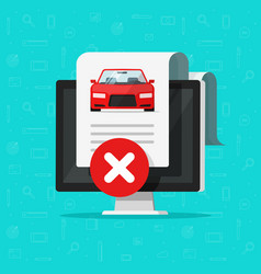 Car bad history check or report document vector
