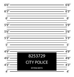 Cartoon police lineup mugshot flyer concept banner vector