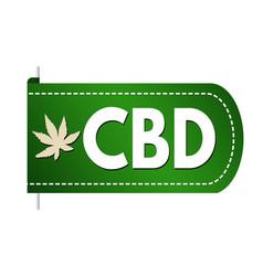cbd cannabidiol banner design vector image