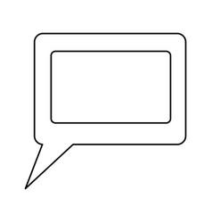 chat bubble symbol vector image