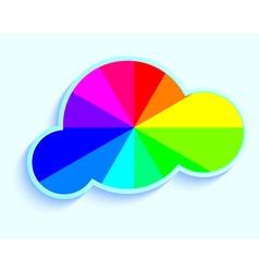 cloud in rainbow vector image