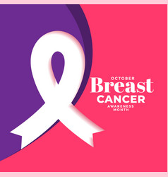 creative breast cancer month poster design with vector image