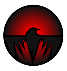 Crow icon vector