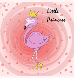 Cute little princess abstract background with pink vector