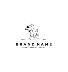 Dog pet logo design vector