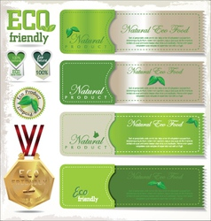 Eco signs labels and emblems vector