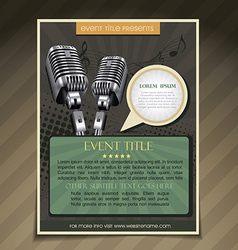 Event poster template vector
