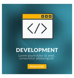 Flat design concept for development with bl vector image