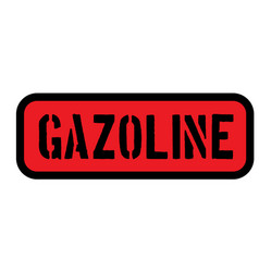 Gasoline sign on white vector