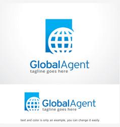 Global agent logo template design vector