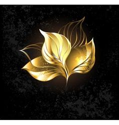golden leaf vector image
