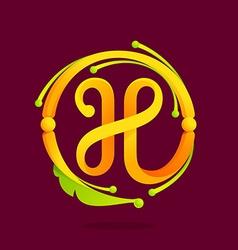 H letter monogram design elements vector