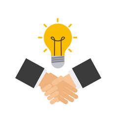 handshake business done deal vector image