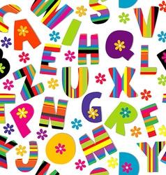 Happy alphabet seamless vector
