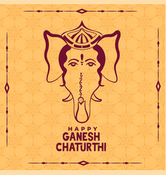 Happy ganesh chaturthi indian festival ethnic vector