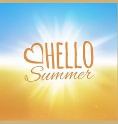 hello summer beach vector image