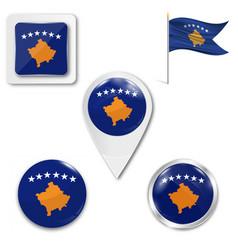 Icon kosovo flag vector