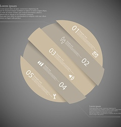Infographic template with brown circle askew vector