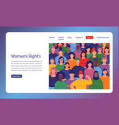 International women s day group womens with vector