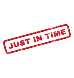 Just In Time Rubber Stamp vector image
