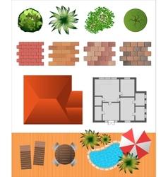 landscape vector image