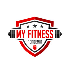 Logo my fitness academy vector