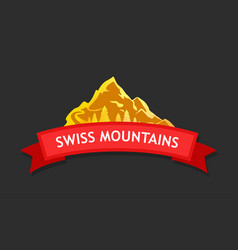 Logo of swiss mountains vector