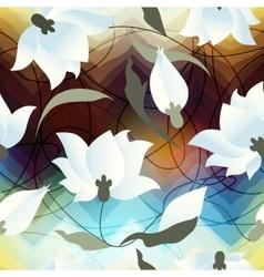 Lotus flower ob blur background vector