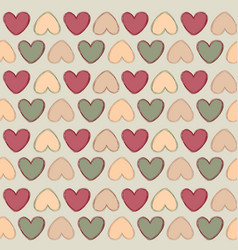 love heart doodle seamless pattern valentine day vector image