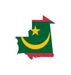 mauritania flag and map vector image