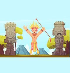 Maya cartoon vector
