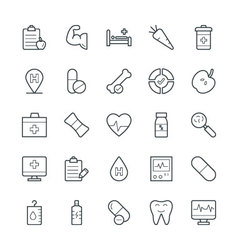 Medical and Health Cool Icons 10 vector image