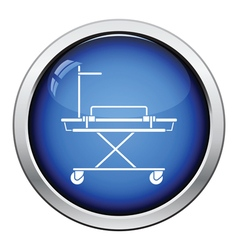 Medical stretcher icon vector image