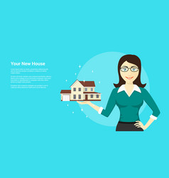 New house advertisement vector