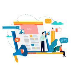 News update online news newspaper news website vector