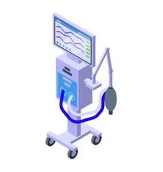 Patient ventilator icon isometric style vector