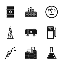 Petroleum icons set simple style vector