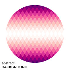 pink circle of rhombuses isolated vector image
