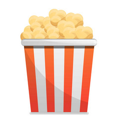 popcorn striped box icon cartoon style vector image