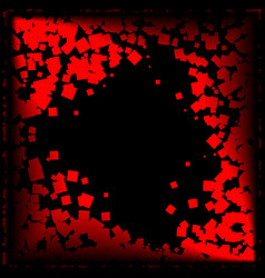 postcard of red diamonds on a black background vector image