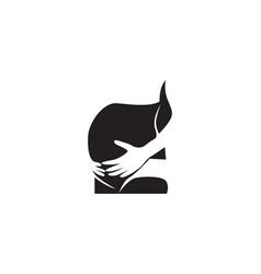 pregnant woman line art symbols template vector image
