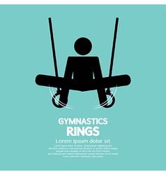 Rings Gymnastics vector image