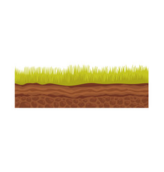 seamless ground soil and land image for ui vector image