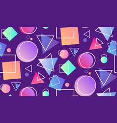 Seamless neon pattern in the memphis style with vector