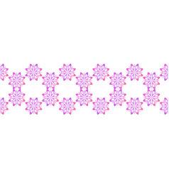 Seamless textile floral border geometric vector