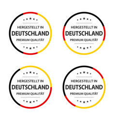 set four german labels made in germany vector image