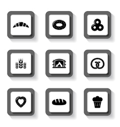 set of bakery buttons vector image