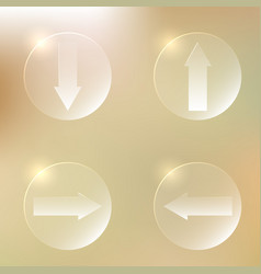 Set of glassy arrows icons set of glassy arrows vector
