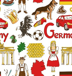 Sketch Germany seamless pattern vector image