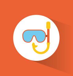 snorkel mask ocean concept vector image